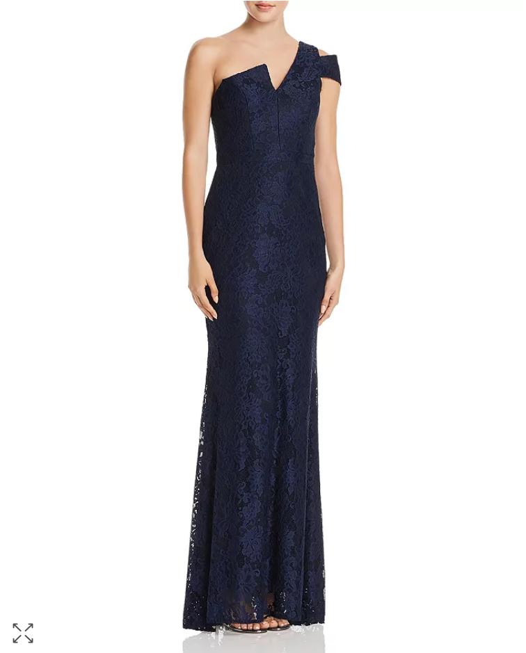 Aqua dentelle découpe une épaule robe de fabricants Standard prix de détail  258 Taille 8   7 A 752 NEUF