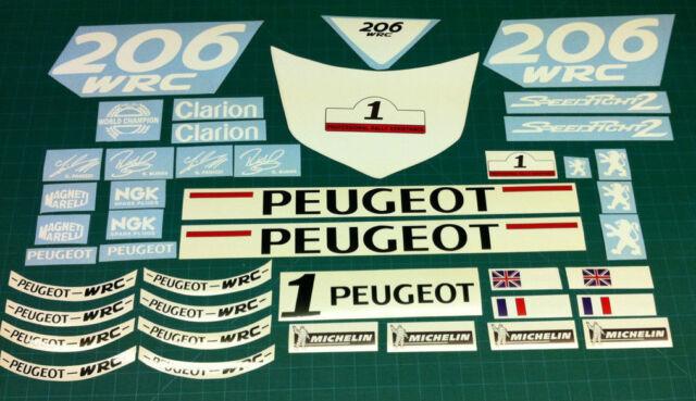 Peugeot Speedfight 2 206 Wrc Aufkleber Set Grafiken Restaurierung Roller 50