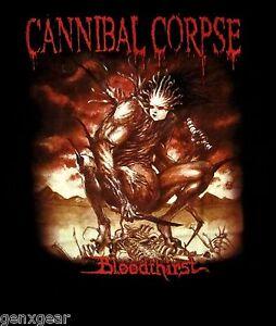 CANNIBAL-CORPSE-cd-cvr-BLOODTHIRST-Official-Black-SHIRT-LRG-New-1988-death-metal