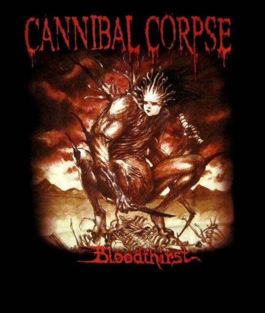 CANNIBAL CORPSE cd cvr BLOODTHIRST Official Black SHIRT LRG New 1988 death metal