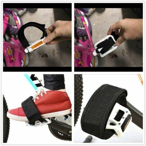 1 Pair Bicycle Foot Pedal Feet Anti-slip Fixed Black Straps Belt For MTB Bike