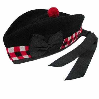 Affidabile Nuovo Cappello Scozzese Piper 100% Pura Lana Dadi Nero Glengarry Cappello Militare- Buoni Compagni Per Bambini E Adulti