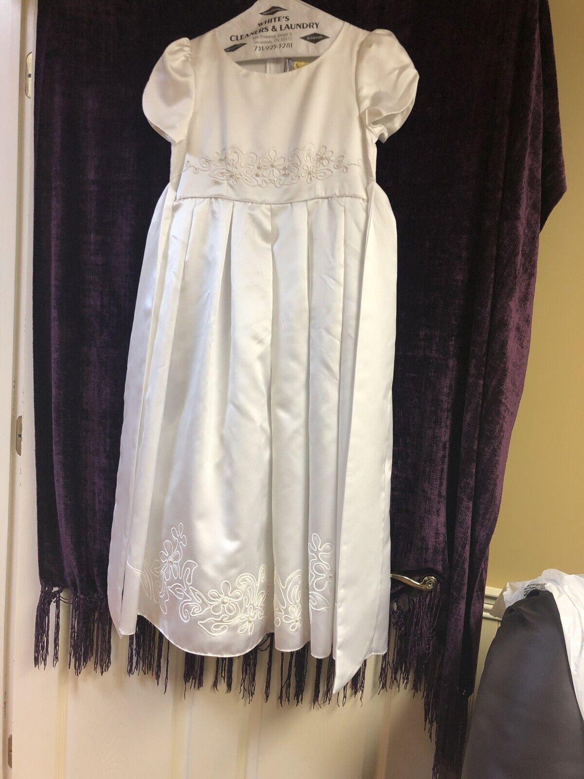 Preserved Wedding/flower Girl!!! Girl's Size 14 Flower girl Dress (ivory/white)