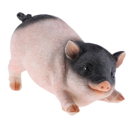 Gartenfigur Dekofigur Schwein Schweinchen Glücksschwein aus Harz,