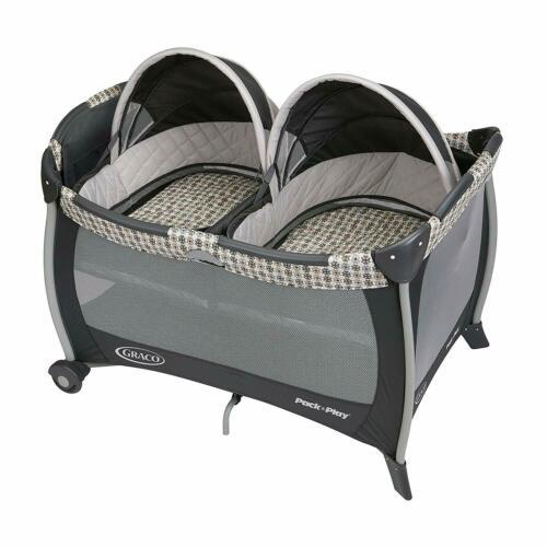 One Size Graco Pack /'n Play Playard with Twins Bassinet Vance
