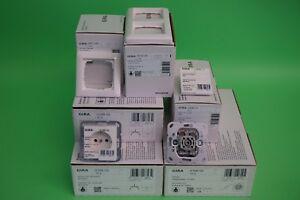 Details zu Gira Standard 55 reinweiß glänzend Steckdosen Schalter Wippen  Rahmen Paket Set 1