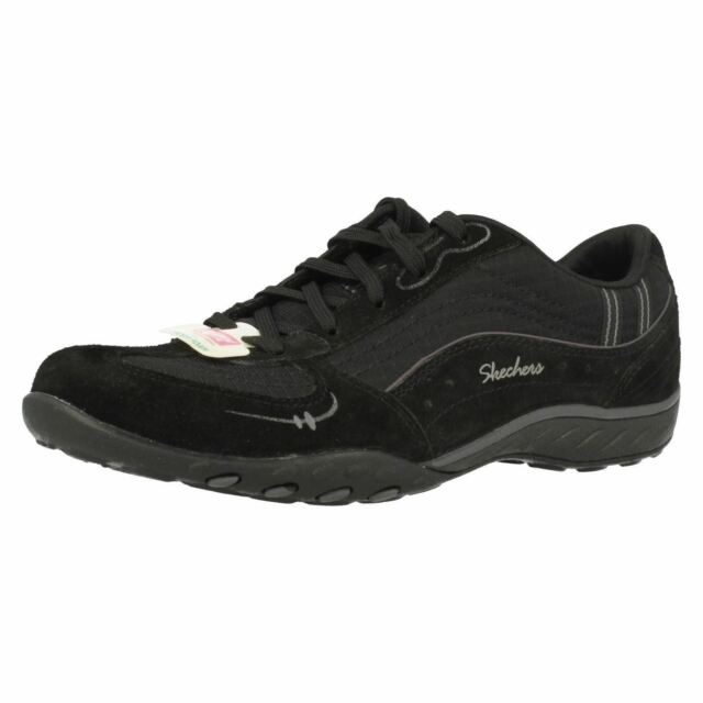 Ladies Skechers 22459 Breathe Easy Just Relax Suede Lace Up Trainers