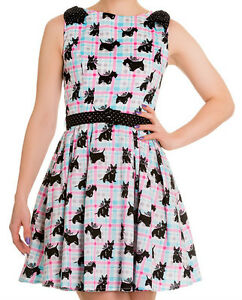 XS-8-Scottie-Dog-Dress-Blue-and-Pink-Check-Last-2-Helbunny-Supercute