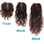 Wavy-Curly-100-Human-Hair-Topper-Hairpiece-Toupee-Top-Piece-For-Women thumbnail 2
