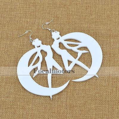 Sailor Moon Tsukino Usagi Earrings Ear Hook Ear Jewelry Fan Cosplay Gift White