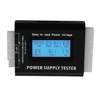 Digital LCD PC Computer PC Power Supply Tester 20/24 Pin SATA HDD Testers OE