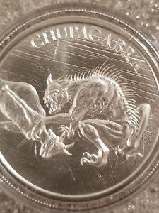 Chupacabra-1-oz-999-Silver-round-American-Folklore-new-high-relief-bigfoot