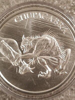 Bigfoot Sasquach 1 oz .999 Silver BU Round American Folklore