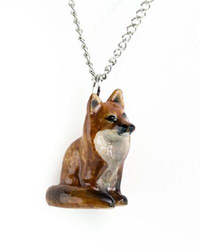 Little Critterz Porcelana Red Fox sentado colgante 120104