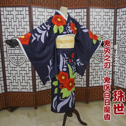 Demon Slayer Kimetsu no Yaiba Cosplay Costume Tamayo  Kimono Dress For Women