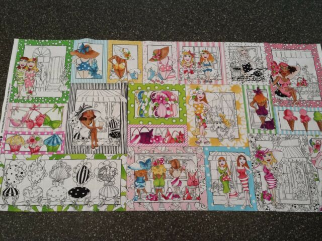 Sunshine Resort Patch Panel by Loralie Harris for Quilting Treasures 23x43