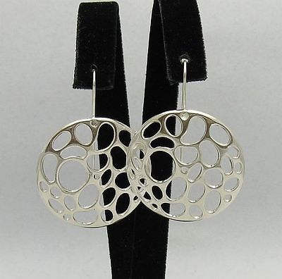 STERLING SILVER EARRINGS CIRCLE SOLID 925 NEW QUALITY E000334 EMPRESS