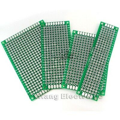 20Pcs Double Side Prototype PCB Tinned breadBoard 5x7 4x6 3x7 2x8CM Each 5Pcs