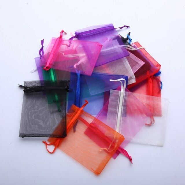 """Lot of 100 300 3"""" x 4"""" Organza Gift Bag Jewelry Pouch Wedding Favor NEW"""