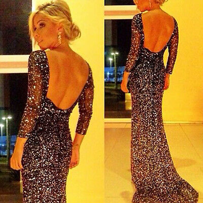 Chic Sexy Women Prom Backless Cocktail Tail Formal Bridesmaid Gown Long Dress