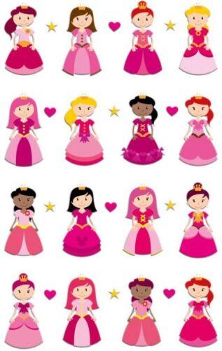 3D Sticker Maildor 28 tlg Sticker Set Cooky pinke Prinzessinnen