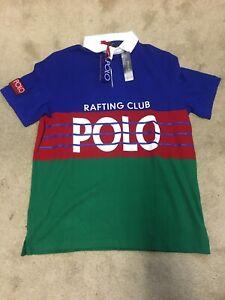 0b8f18da242 NWT Polo Ralph Lauren Hi Tech Rafting Club Rugby Shirt Classic Fit ...