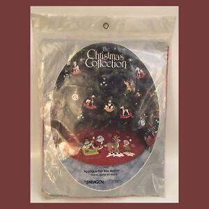 Paragon-Needlecraft-Christmas-Collection-Applique-Felt-Tree-Skirt-35-Round-NEW