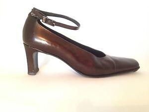 079cc1de12e8 Balenciaga Paris Vintage Square Toe Ankle Strap Pump with Wide Heel ...