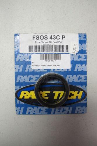 Racetech Showa Fork Oil Seal Pair FSOS 43C P