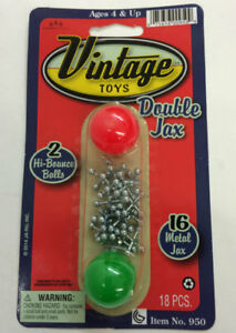 Double Jax Classic Toy with Two Balls Jacks Game - For Ages 3 and up