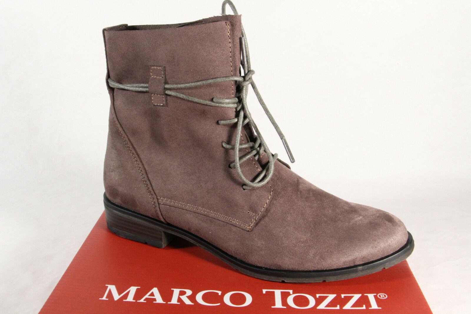 MARCO TOZZI Women's Boots Ankle Boots Lace Up Boots, Boots Grey 25112 New