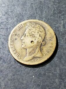 1827-H-FRENCH-COLONIES-5-Centimes-Coin