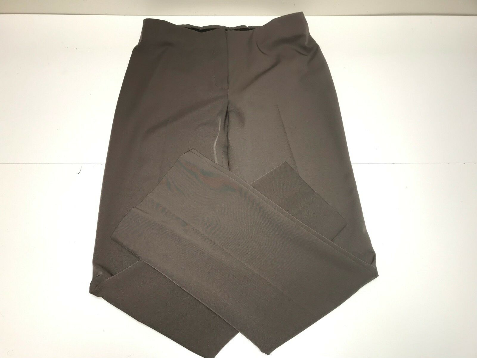 women Degnan New Women's TECHNO FLY FRONT TAUPE PANT Sz  8 RTL   96 R540