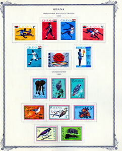 Ghana-Stamps-1959-1976-Collection-on-Scott-Pages