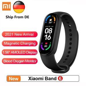 Xiaomi Mi Smart Band 6 schwarz Fitness Tracker Schrittzähler - BRANDNEU