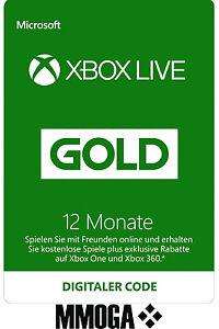 Xbox-Live-Gold-Mitgliedschaft-Card-12-Monate-f-Microsoft-Xbox-360-amp-One-NEU-TOP