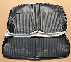 Fantastic Details About 1967 1968 Camaro Hardtop Rear Seat Covers Black Pui 67Fs10C In Stock Onthecornerstone Fun Painted Chair Ideas Images Onthecornerstoneorg