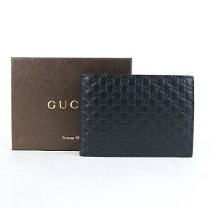 Gucci-Men-039-s-Navy-Blue-Guccissima-Leather-Bifold-Wallet-w-Coin-Pocket-292534-4009