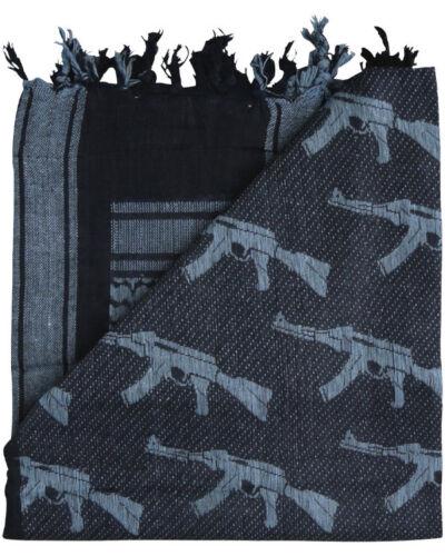 Kombat UK Gun Shemagh Black Grey Cotton Scarf Army Military Hunting//Shooting