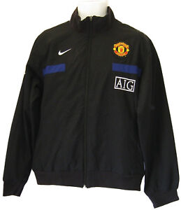 NEW-Vintage-Nike-Manchester-United-Football-Club-Tracksuit-Jacket-Black-XL