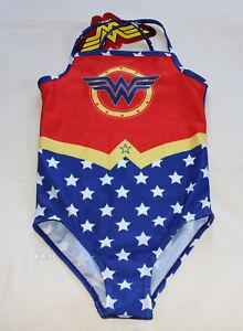 fc4dcd3975e72 DC Comics Wonder Woman Girls Printed 1 Piece Bikini Bathers Swimsuit ...