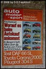 AMS Auto Motor Sport 5/73 DAF 66 Toyota Corona 2000 Peugeot 304 S