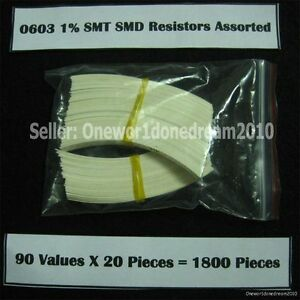Lot-of-1800-Pieces-0603-1-SMD-SMT-Resistor-Assortment-Kit-Assorted-Value-Pack