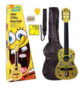 c37d517eb869d SPONGEBOB SQUAREPANTS 1 4 size Junior Nylon String Guitar Pack with ...