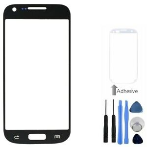 Black-Front-Outer-Screen-Glass-Lens-For-Samsung-Galaxy-S4-Mini-Tools-Adhesive