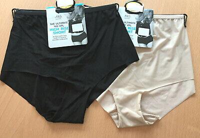 BNWT MARKS /& SPENCER NO VPL HIGH RISE SHORTS BRIGHT BLUE LACE DETAIL SIZE 20
