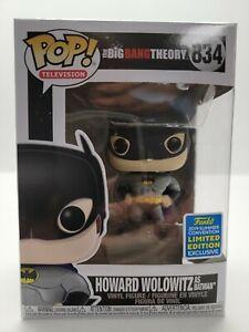 Funko Pop! The Big Bang Theory #834 Howard as Batman SDCC Con Sticker
