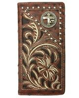 Western Christian Cowboy Brown Fathers Day Wallet Cross Horse Praying Bifold