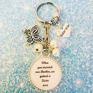 Mariage-nouvelle-s-ur-en-droit-porte-cles-Souvenir-Faveur-Cadeau-Toute-Couleur-Perles