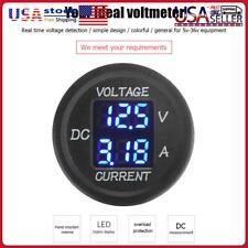 2 In 1 Car Motorcycle Led Digital Voltmeter Ammeter Voltage Meter For Dc 12 24v